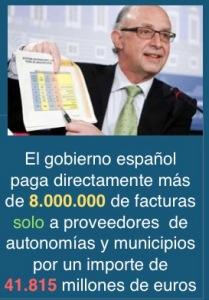 En la imagen el Ministro de Hacienda explicando el pago de facturas a cientos de miles de proveedores