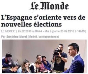 Los medios internacionales señalan la orientación a nuevas elecciones