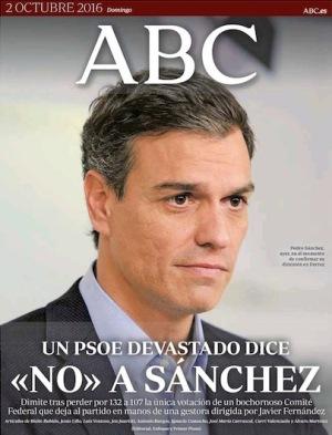 Portada del diario ABC