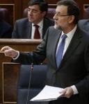 El presidente del gobierno, Mariano Rajoy en el Congreso de los Diputados